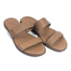 Cole Haan Tan Leather Slide Sandals Size 9